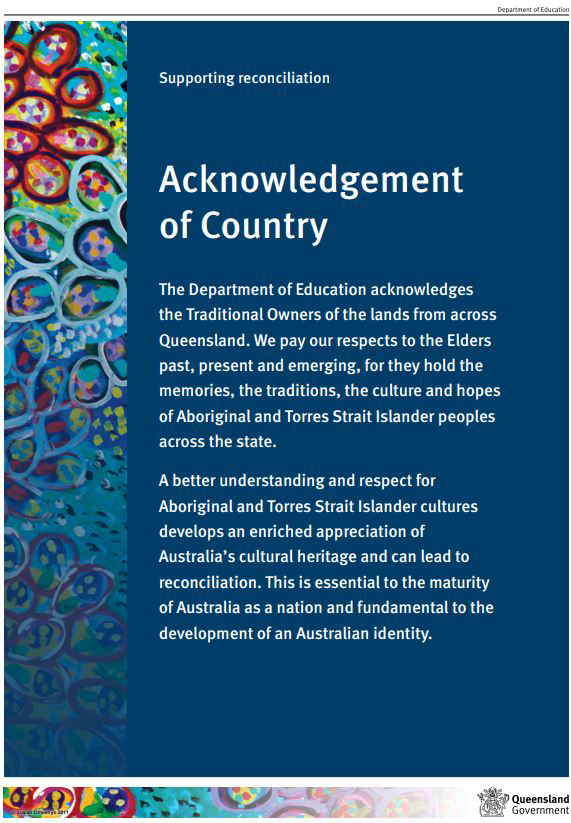 Acknowledgement of Country statement